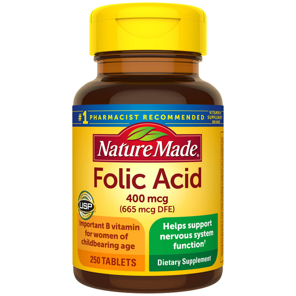 Nature Made Folic Acid 400mcg, 250 Tablets