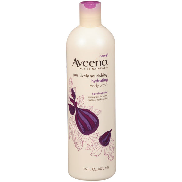 Aveeno Positively Nourishing Aveeno Ultra Hydrating Body Wash, 16 Ounce