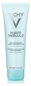 Vichy Puret Thermale Hydrating Foaming Cream Facial Cleanser, Paraben-free, Alcohol-free, 4.2 Fl. Oz.