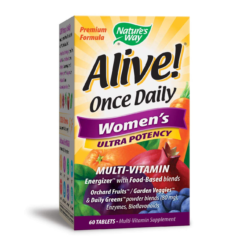 Nature's Way Alive Once Daily Women's Ultra Potency Multi-Vitamin, 60 Tablets