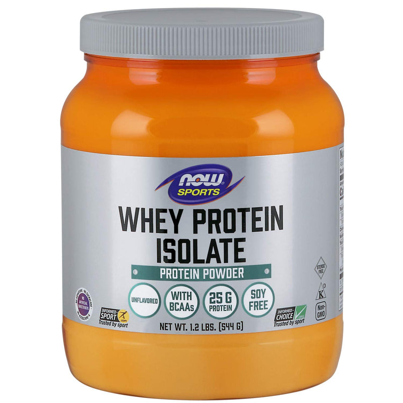 Now Foods Sports Whey Protein Isolate Powder (Natural Vanilla, 1.8 lbs, 816 g)