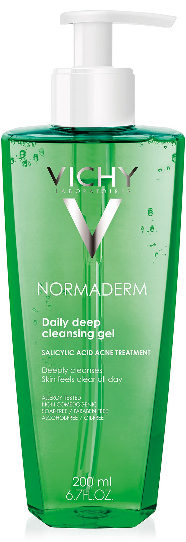 Vichy Normaderm Deep Cleansing Gel, Acne Face Wash with Salicylic Acid (6.2x4.4x18.4cm)