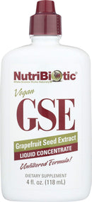 NutriBiotic, GSE, Grapefruit Seed Extract, Liquid Concentrate, 4 fl oz (118 ml)
