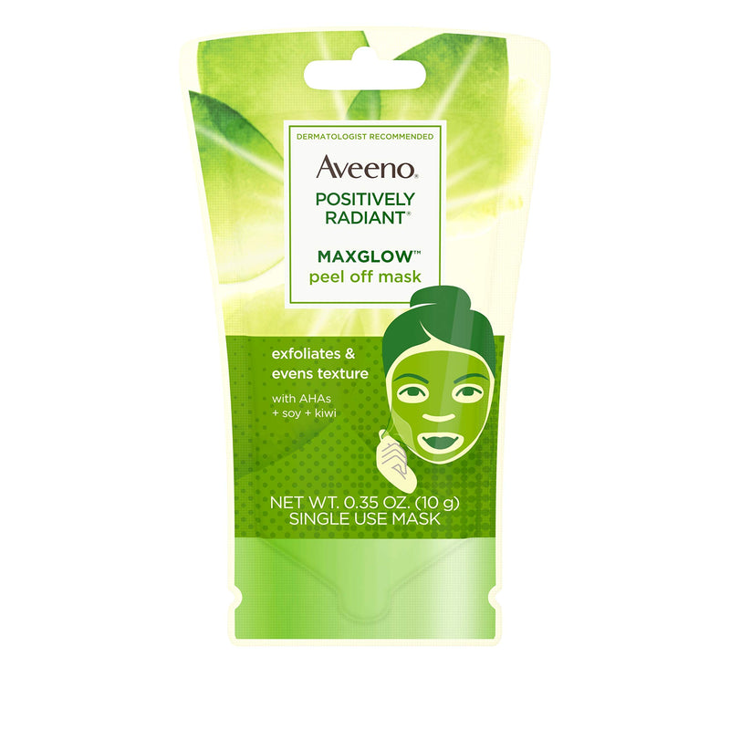 Aveeno Positively Radiant Maxglow Peel Off Exfoliating Face Mask 35 Oz (Pack Of 1)