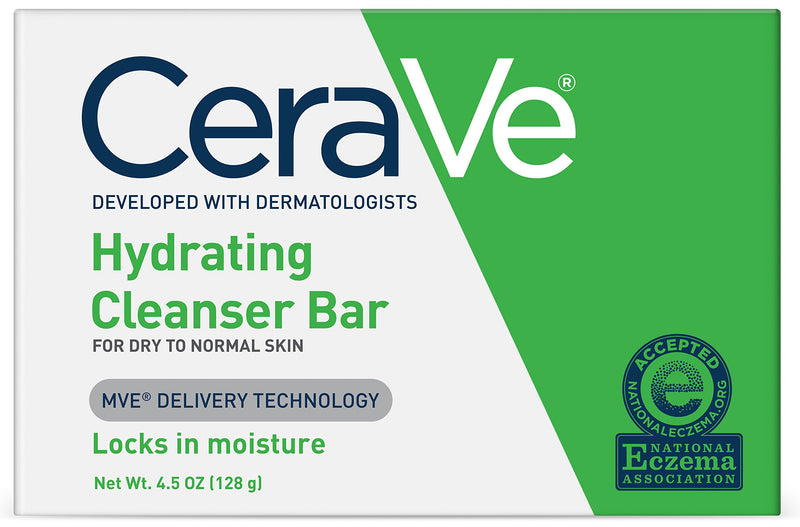 CeraVe Hydrating Cleansing Bar 4.5 oz for Dry to Normal Skin