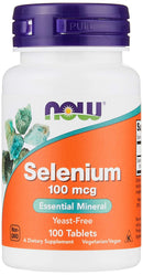 NOW Supplements, Selenium (L-Selenomethionine) 100 mcg, Essential Mineral*, 100 Tablets