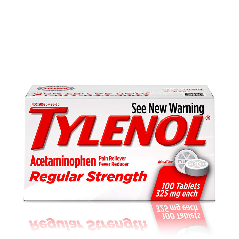 Tylenol Reg Strngth 100 's Size 100 ct Tylenol 325 Mg Regular Strength Pain Relief