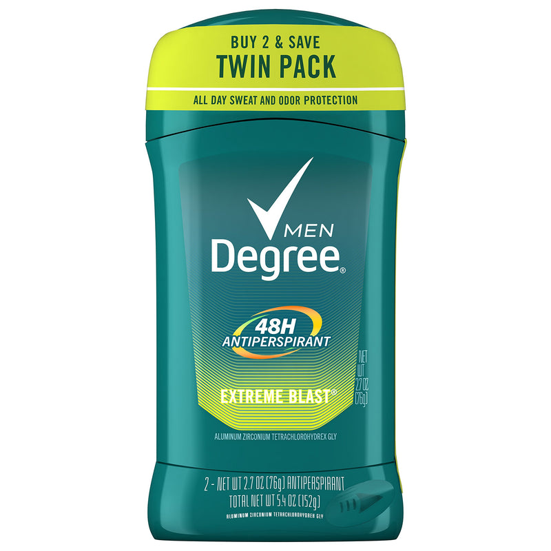 Degree Men Dry Protection Antiperspirant & Deodorant, Extreme Blast 2.7 oz, Twin Pack