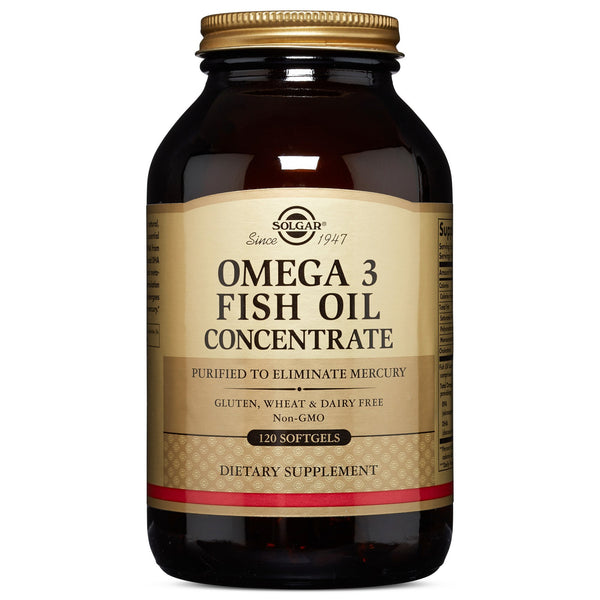 Solgar Omega-3 Fish Oil Concentrate Softgels, 120 S Gels