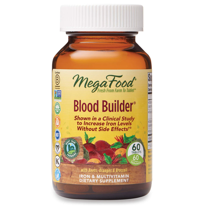 Mega Food Blood Builder, 60 Tablets