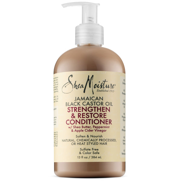 SheaMoisture Jamaican Black Castor Oil Grow & Restore Rinse Out Conditioner (13Oz)