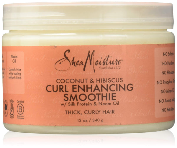 Shea Moisture Coconut Hibiscus Curl Enhancing Smoothie Silk Protein & Neem Oil, 340G