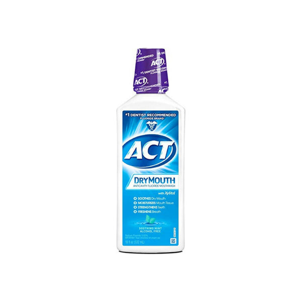 ACT Total Care Dry Mouth Anticavity Mouthwash, Soothing Mint 18 oz