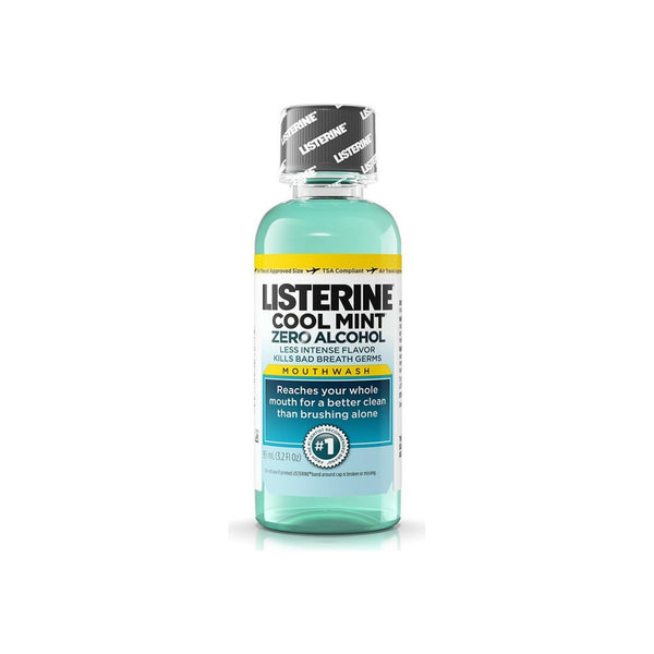 Listerine Cool Mint Zero Alcohol Mouthwash, 3.2 oz