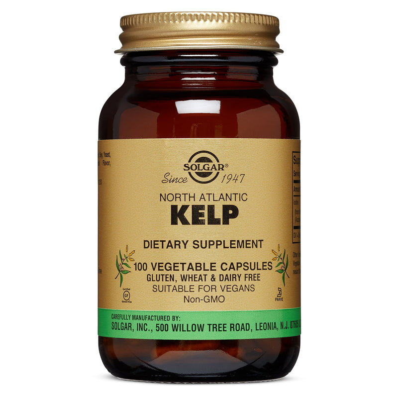 Solgar – North Atlantic Kelp, 100 Vegetable Capsules