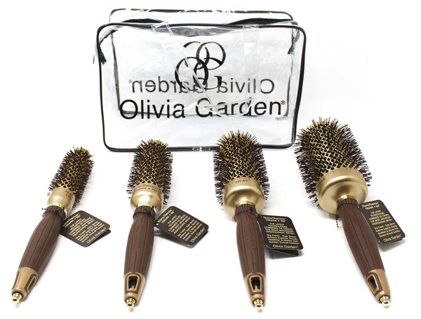 Olivia Garden NanoThermic Ceramic + Ion Round Thermal Hair Brush, NT-54, NT-44, NT-34, NT-24