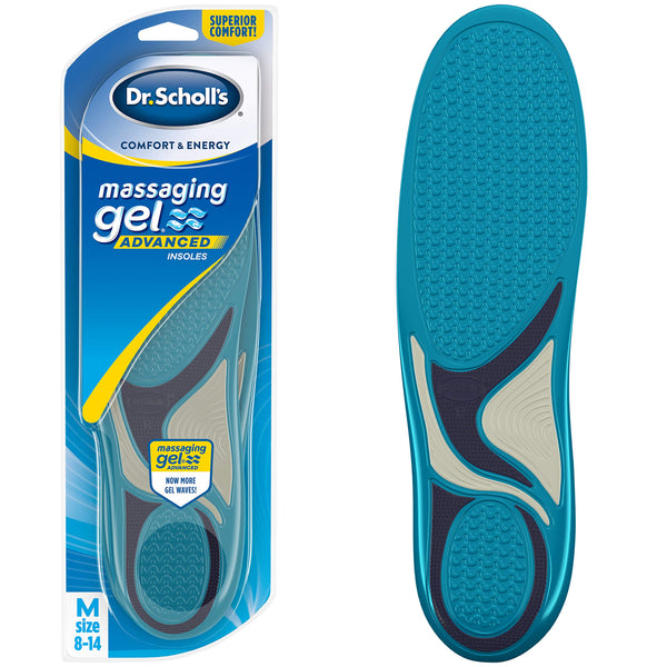 Dr. Scholl's Comfort and Energy Massaging Gel Insoles for Men (8-14)