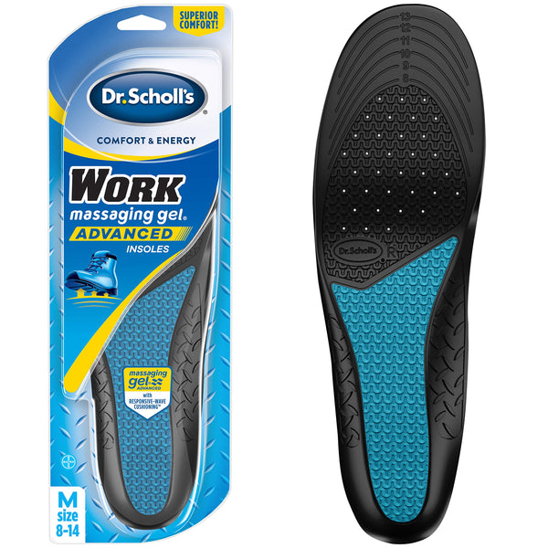 Dr. Scholl's Comfort & Energy Work Insoles For Men, 1 Pair, Size 8-14