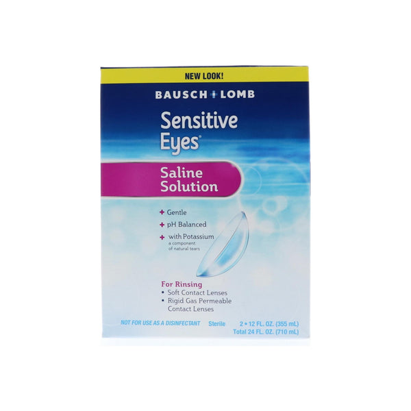 Bausch & Lomb Sensitive Eyes Plus Saline Solution Special Pack 24 oz