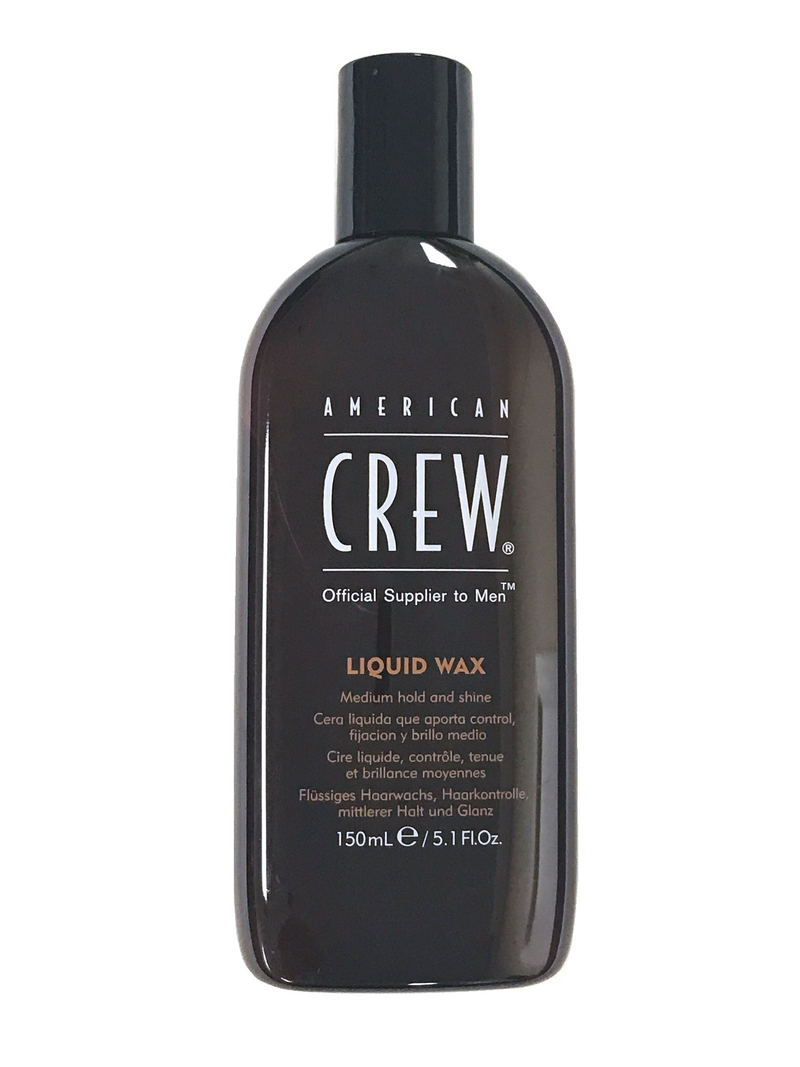 AMERICAN CREW Liquid Wax Medium Hold and Shine for Men (5.1 oz)