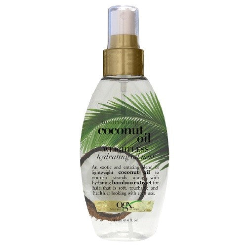 OGX Nourishing Coconut Milk Weightless Hydrating Oil Mist, 4 Ounce