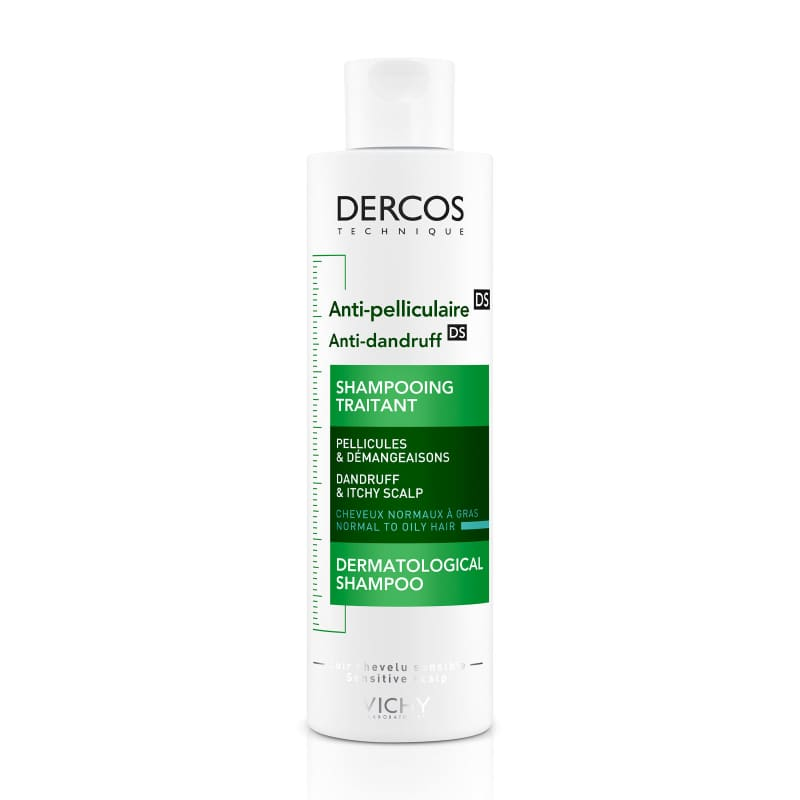 Vichy Dercos Anti-Dandruff Advanced Action Shampoo for Normal to Oily Hair, 200ml