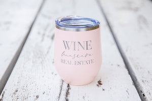 Wine Mascara Real Estate Wine Tumbler