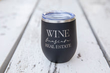 Load image into Gallery viewer, Wine Mascara Real Estate Wine Tumbler