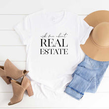 Load image into Gallery viewer, Ask Me About Real Estate Unisex Tee