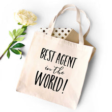 Load image into Gallery viewer, Best Agent in the World Tote Bag