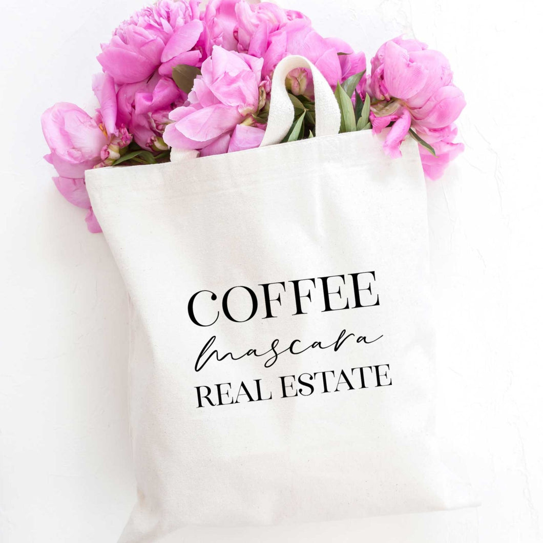 Coffee Mascara Real Estate Tote Bag