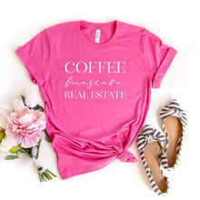 Load image into Gallery viewer, Coffee Mascara Real Estate Unisex Tee