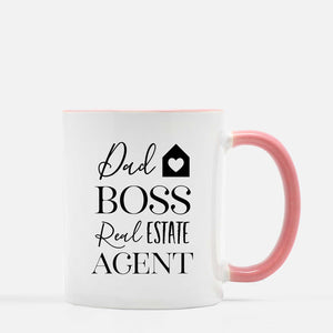 Dad Boss Real Estate Agent Coffee Mug