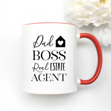 Load image into Gallery viewer, Dad Boss Real Estate Agent Coffee Mug