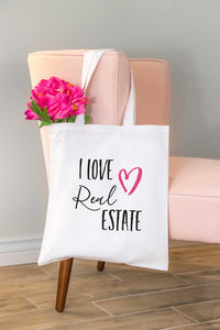 I Love Real Estate Tote Bag