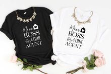 Load image into Gallery viewer, Mom Boss Real Estate Agent Unisex Tee