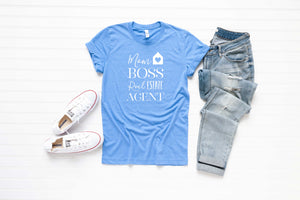 Mom Boss Real Estate Agent Unisex Tee