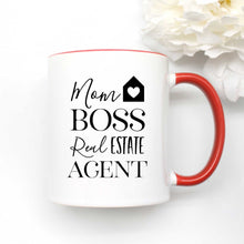 Load image into Gallery viewer, Mom Boss Real Estate Agent Coffee Mug