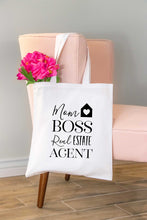 Load image into Gallery viewer, Mom Boss Real Estate Agent Tote Bag