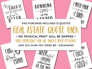 Real Estate Quote Pack - DIGITAL PRINTS
