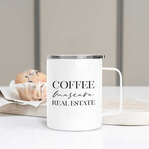 Coffee Mascara Real Estate Travel Mug