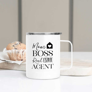 Mom Boss Real Estate Agent Travel Mug