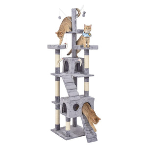 211cm Cat Scratching Post / Tree / Pole - Grey