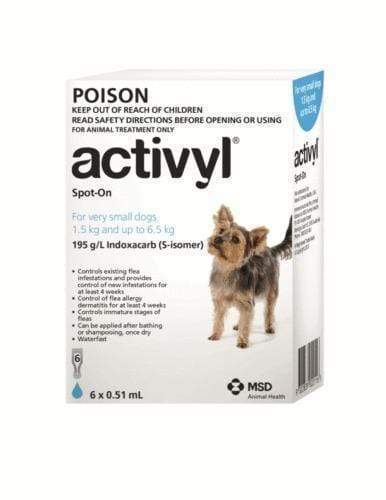 Activyl Dog 1.5-6.5kg L/Blue (6 Pack)