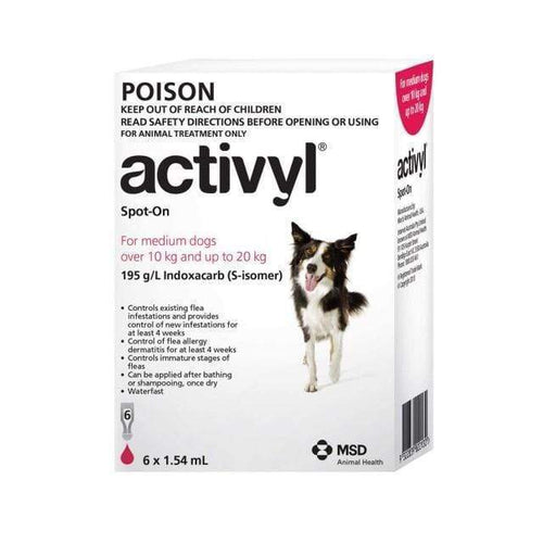 Activyl Dog 10-20Kg Red (6 Pack)