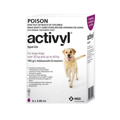 Activyl Dog 20-40Kg Purple (6 Pack)