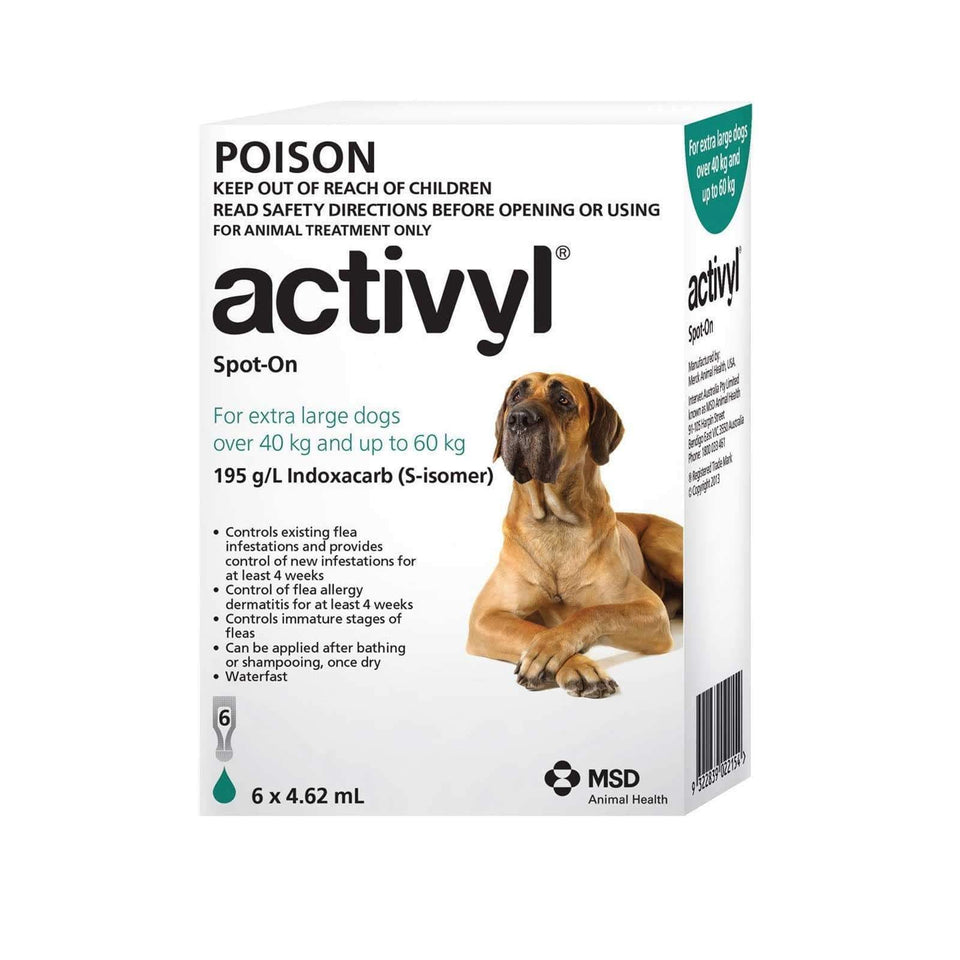 Activyl Dog 40-60Kg Green (6 Pack)