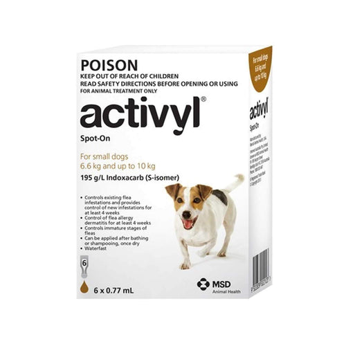 Activyl Dog 6.6-10Kg Brown (6 Pack)