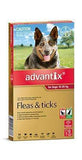 Advantix Red Large Dog (6 Pack)