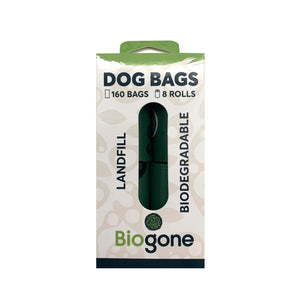 Bio-Gone Biodegradable Dog Poo Bags - 8 Roll (160 bags Per Roll)